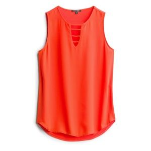 NWT Alexya Mixed Material Orange Top by Papermoon